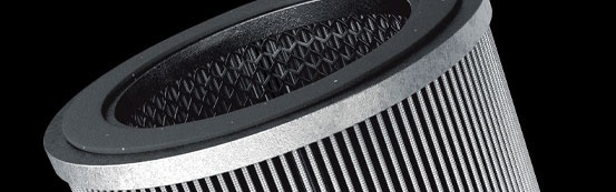 Small Compact Air filters with integrated silencer