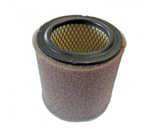 Filter's cartridge with integrated silencer